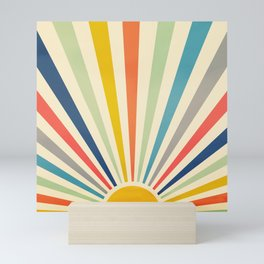 Sun Retro Art III Mini Art Print