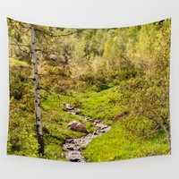 river Wall Tapestries featuring River by Julie Luke