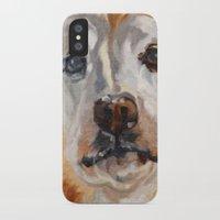 gemma correll iPhone & iPod Cases featuring Gemma the Golden Retriever by Barking Dog Creations Studio