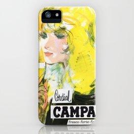 Vintage 1968 Cordial Campari Lithograph Advertisement iPhone Case