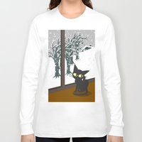 snow Long Sleeve T-shirts featuring Snow by BATKEI