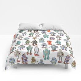 Fun Retro Robots Comforters