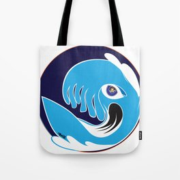 Waveboarder Smiley Tote Bag