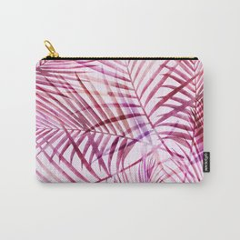 Pink Feathery Palm Pattern Carry-All Pouch