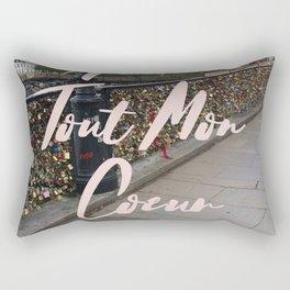 With All My Heart, Paris Rectangular Pillow