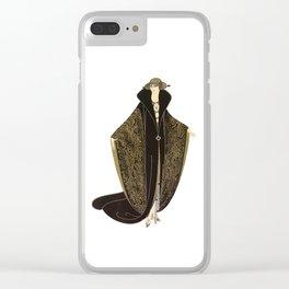 """Art Deco """"The Golden Cloak"""" Design by Erté Clear iPhone Case"""