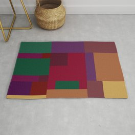 Jewel tones abstract geometric II Rug