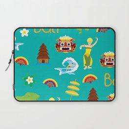 bali pattern summer tropical tosca Laptop Sleeve