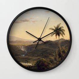 Cotopaxi by Frederic Edwin Church Wall Clock