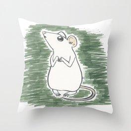 Squeak, the Tiny Inktober Mouse Throw Pillow