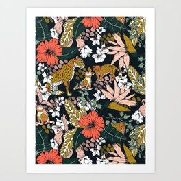 Animal print dark jungle Kunstdrucke