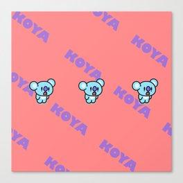 BTS RM BT21 Koya Canvas Print