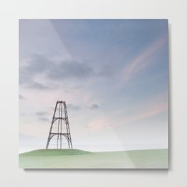 Pastel coloured transmission tower in North Wales | Long exposure fine art photography print Metal Print