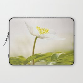 Wood Anemone Blooming in Forest Laptop Sleeve