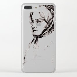 Museum Sketch: Feuerbach Clear iPhone Case