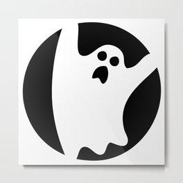ghosty black Metal Print