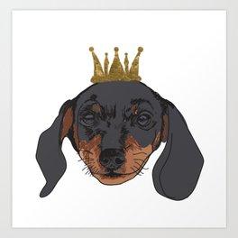 Dachshund King Art Print