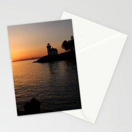 Lime Kiln Lighthouse Sunset Stationery Cards