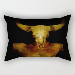 Le sacrifice de l'homme taureau  Rectangular Pillow