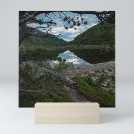 Serenity Mountain Lake's View To Eternity Mini Art Print