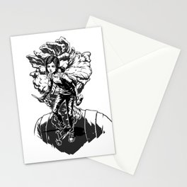 Ellie Last Of Us black Stationery Cards