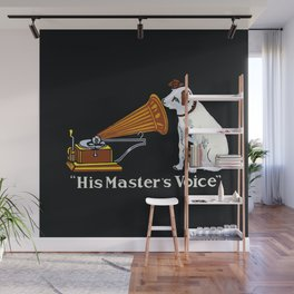 Retro his master's voice, Nipper the Dog Wall Mural