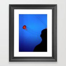 Think Jellyfish Framed Art Print