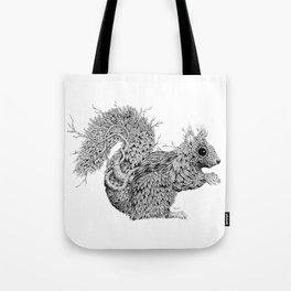 Leaf Squirrel Tote Bag