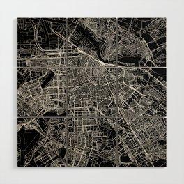 Amsterdam Black Map Wood Wall Art