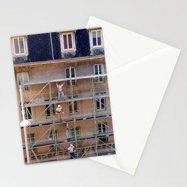 Men On Scaffolding Stationery Cards