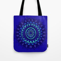 Hand- Drawn Bohemian Mandala in Sapphire Blue Tote Bag