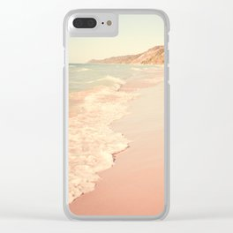 Her Mind Wandered Back and Forth With the Waves Clear iPhone Case