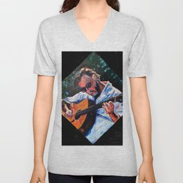 Playing Lizzie Taylor Unisex V-Neck