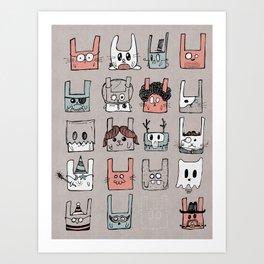 Bunnies Art Print