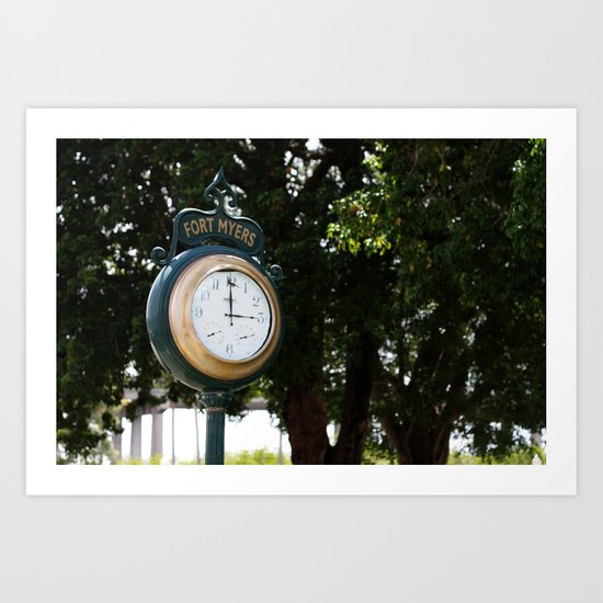 Fort Myers Clock Art Print