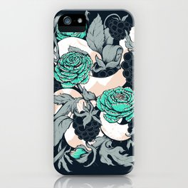 Berries and Snake Florals iPhone Case