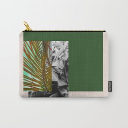 Gray and Green Carry-All Pouch