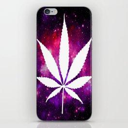 Weed : High Times Fuchsia Pink Purple Galaxy iPhone Skin