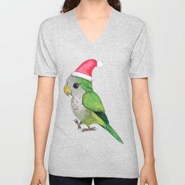 Green Christmas parrot Unisex V-Neck