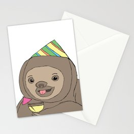 Party Sloth Stationery Cards