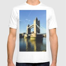 Tower Bridge  White MEDIUM Mens Fitted Tee