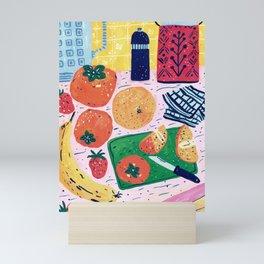 Persimmon Salad Mini Art Print