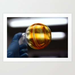 A slightly impure product right after evaporating the solvent from the flask. Art Print