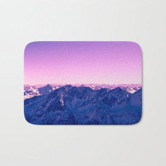 Pink Mountains #society6 #photography Bath Mat