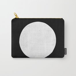 Linocut black and white dot minimalist polka dot Carry-All Pouch