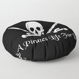 Pirates Life Skull and Crossbones Floor Pillow