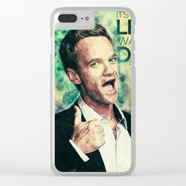 Barney Stinson Clear iPhone Case