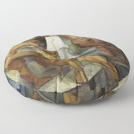Young Bathers by George Pauli Nude Male Art Floor Pillow