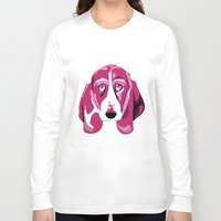 the hound Long Sleeve T-shirts featuring Hound Dog by andiroses