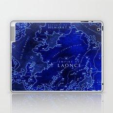 map blue Laptop & iPad Skin
